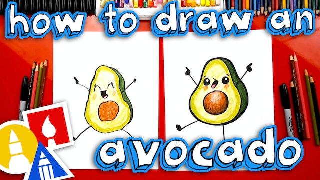 How To Draw A Funny Avocado