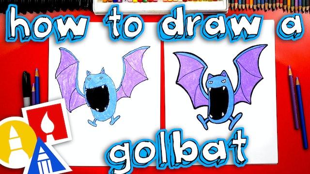 How To Draw A Golbat Pokemon