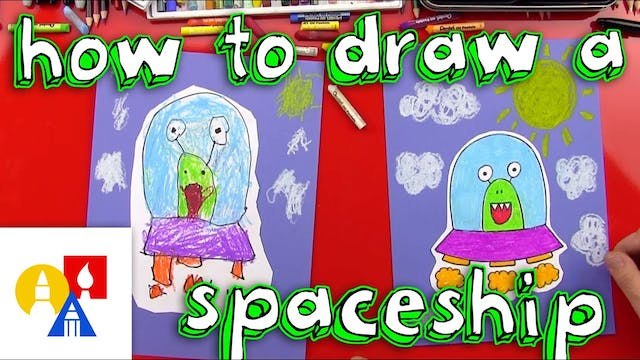 How To Draw An Alien Spaceship
