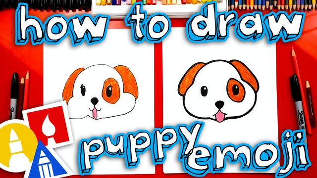 How To Draw The Puppy Emoji