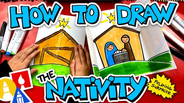 How To Draw The Christmas Nativity Wi...