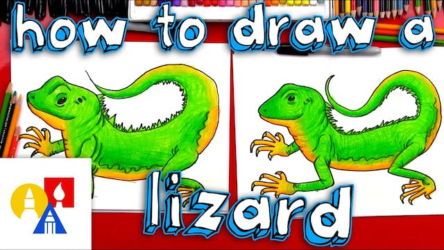 How To Draw A Realistic Lizard