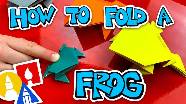 How To Fold An Origami Jumping Frog