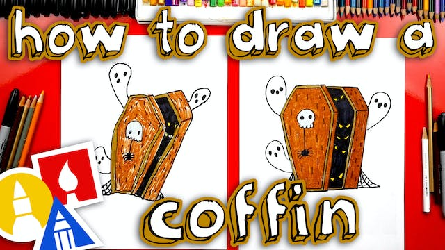 How To Draw A Coffin For Halloween