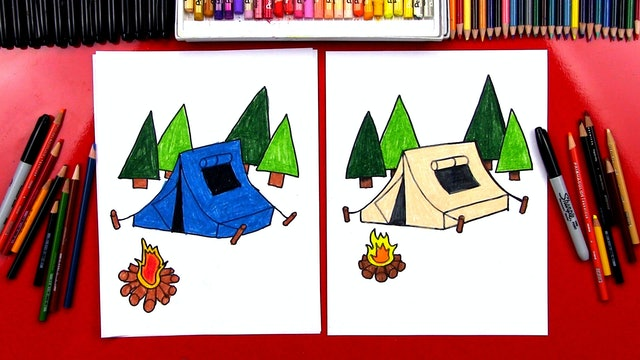 How To Draw A Tent