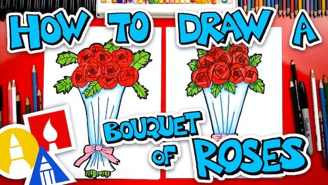 How To Draw A Bouquet Of Roses For Va...