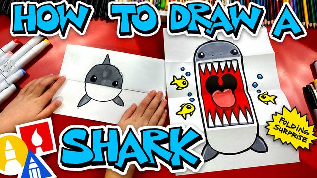 How To Draw A Shark Folding Surprise ...