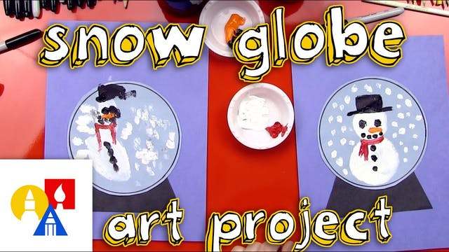 Snow Globe Art Project for young artists