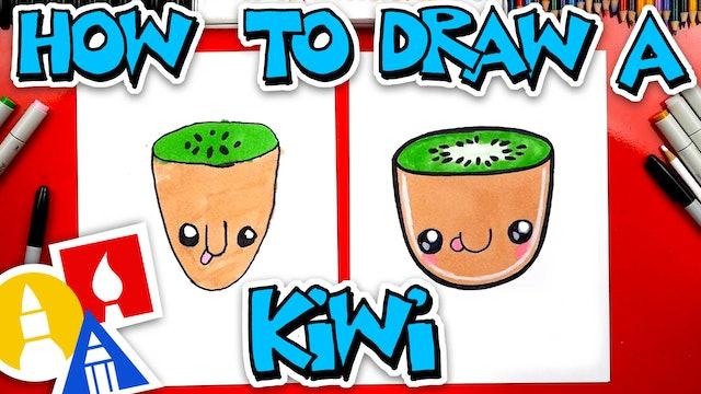 How To Draw A Funny Kiwi