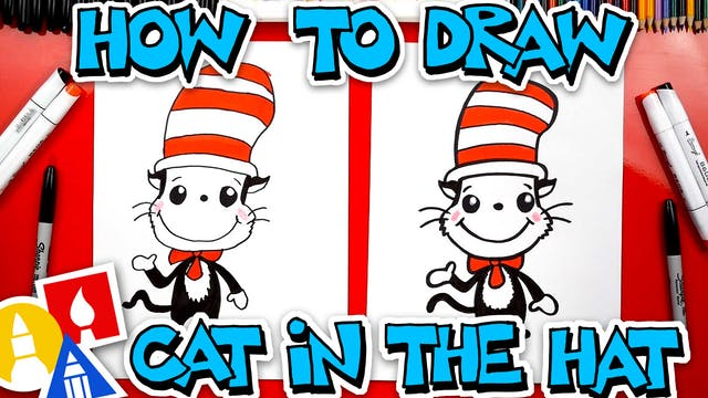 How To Draw The Cat In The Hat (Easy ...