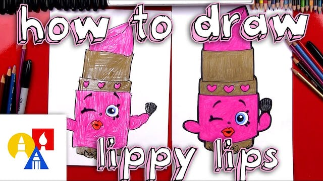 How To Draw Lippy Lips Shopkins