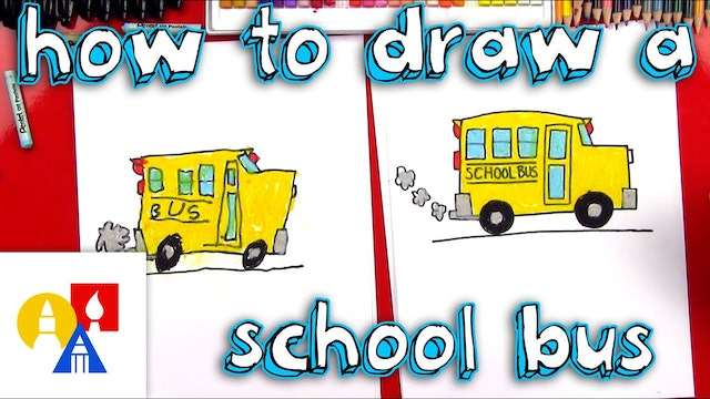 How To Draw A School Bus