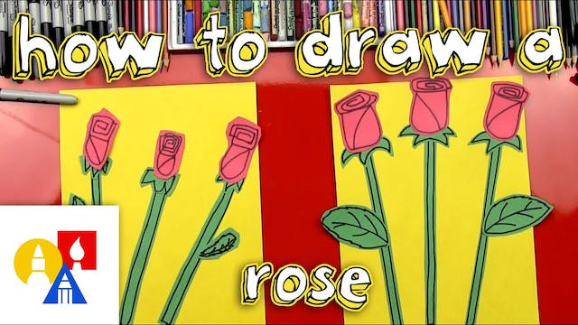 How To Draw A Rose For Young Artists