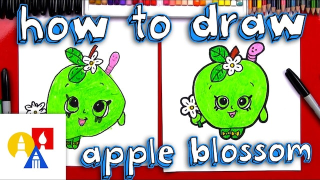How To Draw Apple Blossom Shopkin