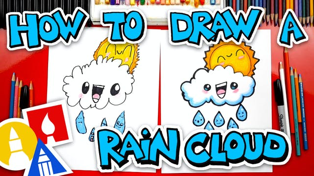 How To Draw A Rain Cloud