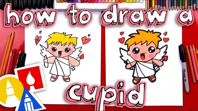 How To Draw A Cartoon Cupid
