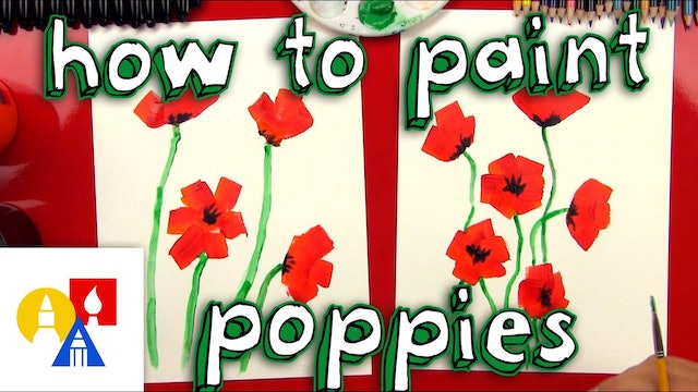 How To Paint Poppies For Kids