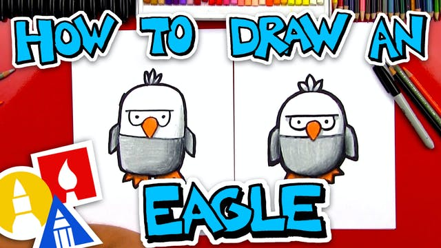 How To Draw A Cartoon Bald Eagle