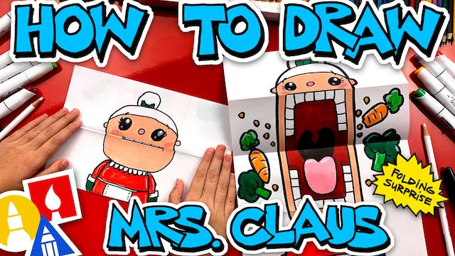 How To Draw Crazy Veggie Mrs Claus Pu...