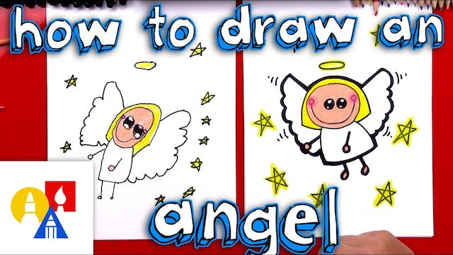 How To Draw A Cartoon Angel