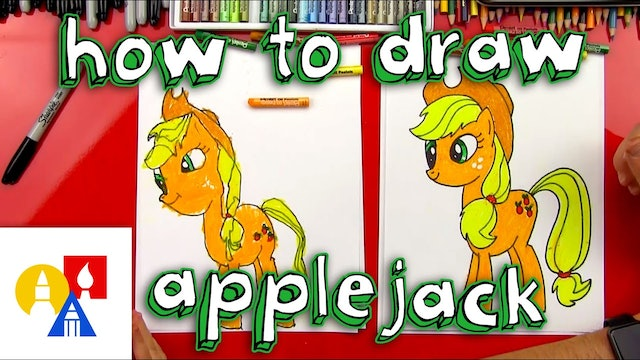 How To Draw Apple Jack My Little Pony