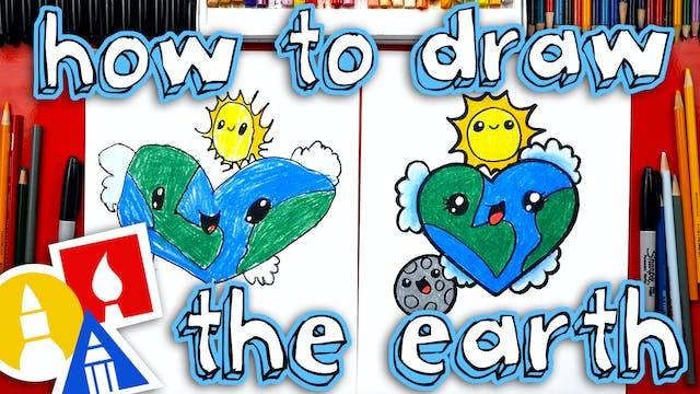 How To Draw The Earth As A Heart