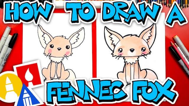 How To Draw A Cartoon Fennec Fox
