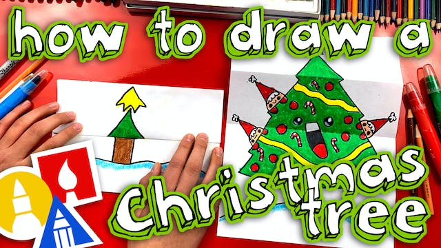 How To Draw A Christmas Tree Folding ...