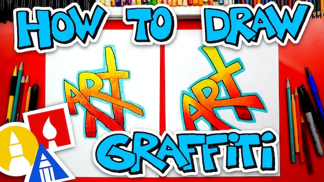 How To Draw The Word Art - Simple Graffiti