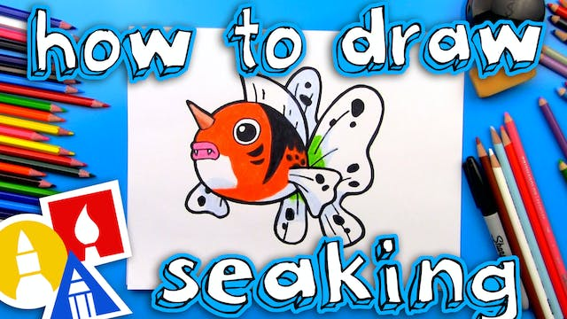 How To Draw Seaking Pokemon