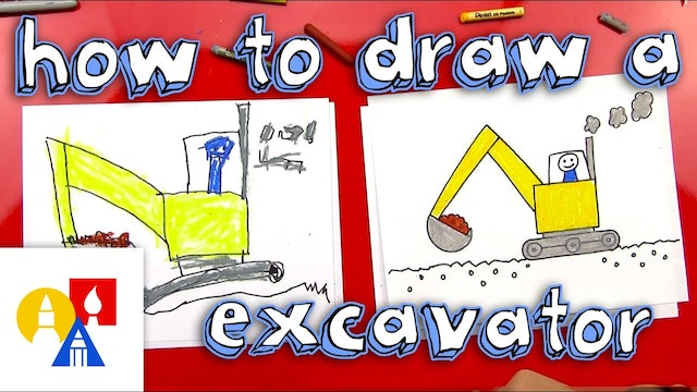 How To Draw An Excavator