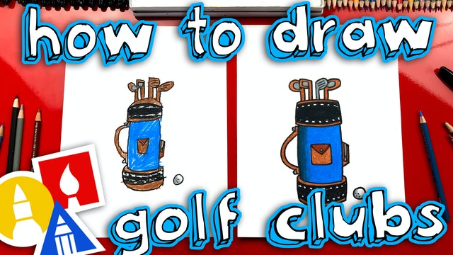 How To Draw A Golf Club Bag For Fathers Day