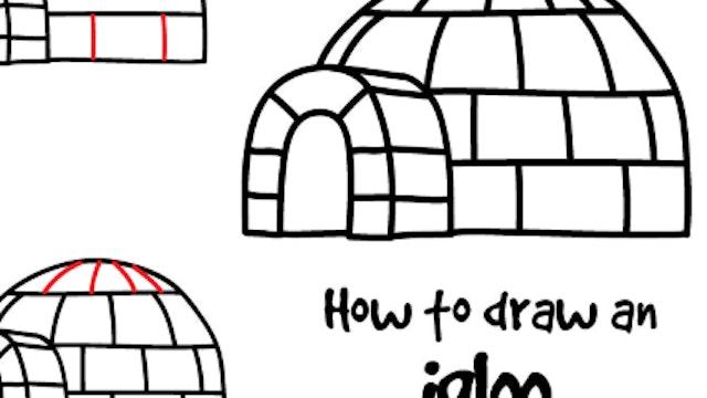 How To Draw An Igloo (PRINTABLE)