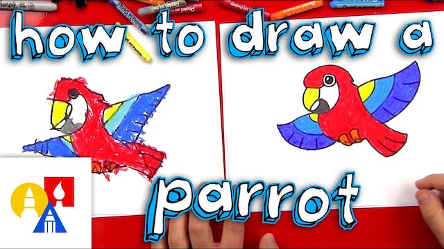 How To Draw A Cartoon Parrot