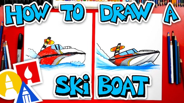 How To Draw A Ski Boat
