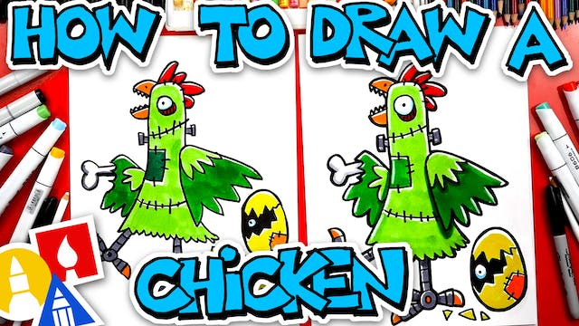 How To Draw Franken-Chicken With Mrs....