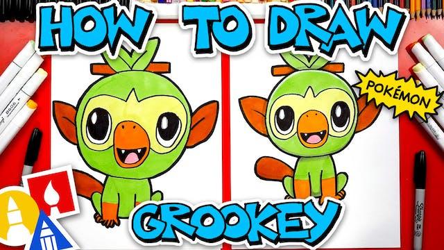 How To Draw Grookey Pokemon From Swor...