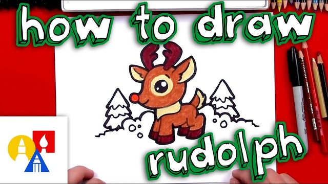 How To Draw Cartoon Rudolf