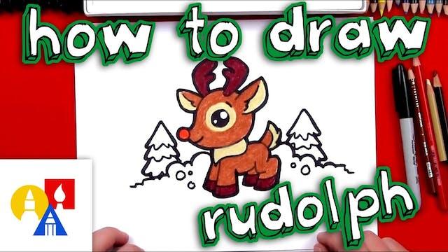 How To Draw Cartoon Rudolf