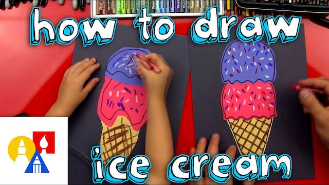 How To Draw An Ice Cream Cone