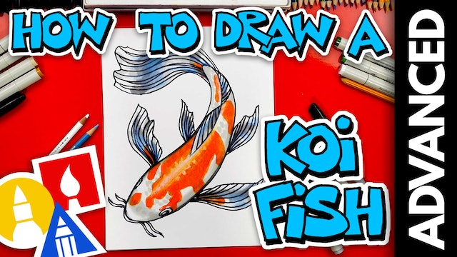 How To Draw A Koi Fish - Advanced 13 and UP