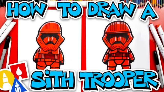 How To Draw A Sith Trooper From Star Wars