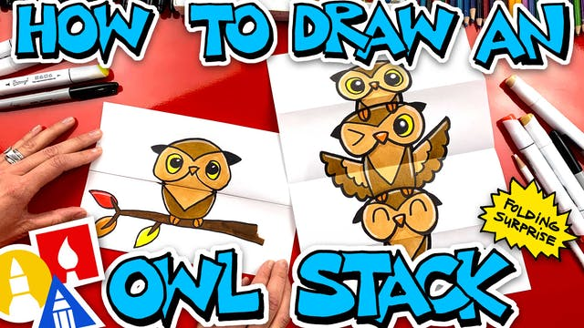 How To Draw An Owl Stack Folding Surp...