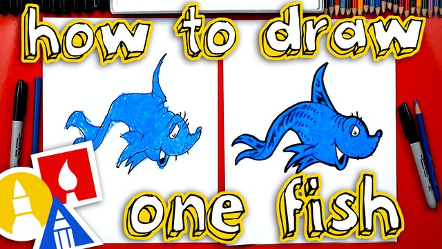 How To Draw One Fish Two Fish Red Fish Blue Fish