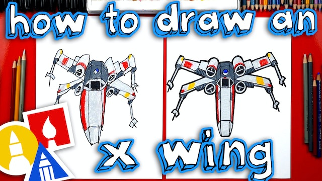 How To Draw An X Wing From Star Wars - member