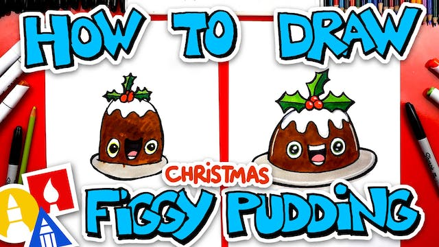 How To Draw Funny Figgy Pudding For C...