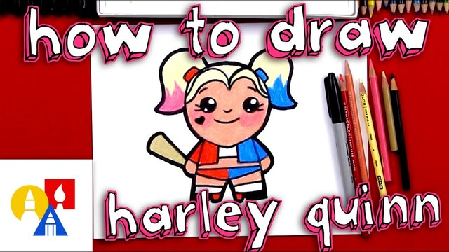 How To Draw A Cartoon Harley Quinn
