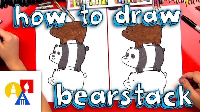 How To Draw We Bare Bears - Bearstack