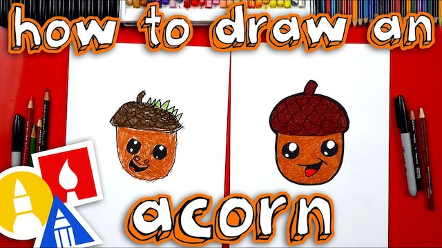 How To Draw An Acorn