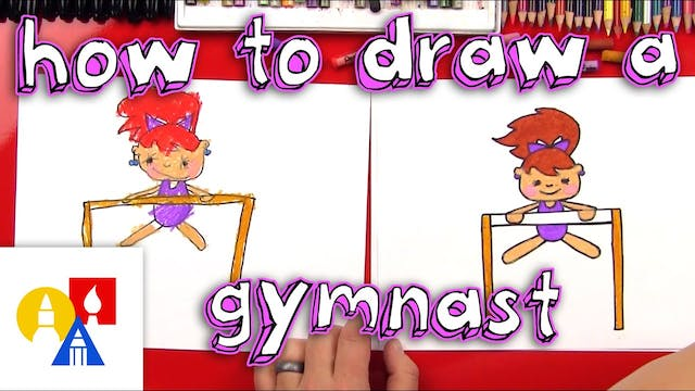 How To Draw A Cartoon Gymnast